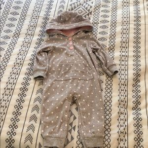 Carter,s fleece suit with hood